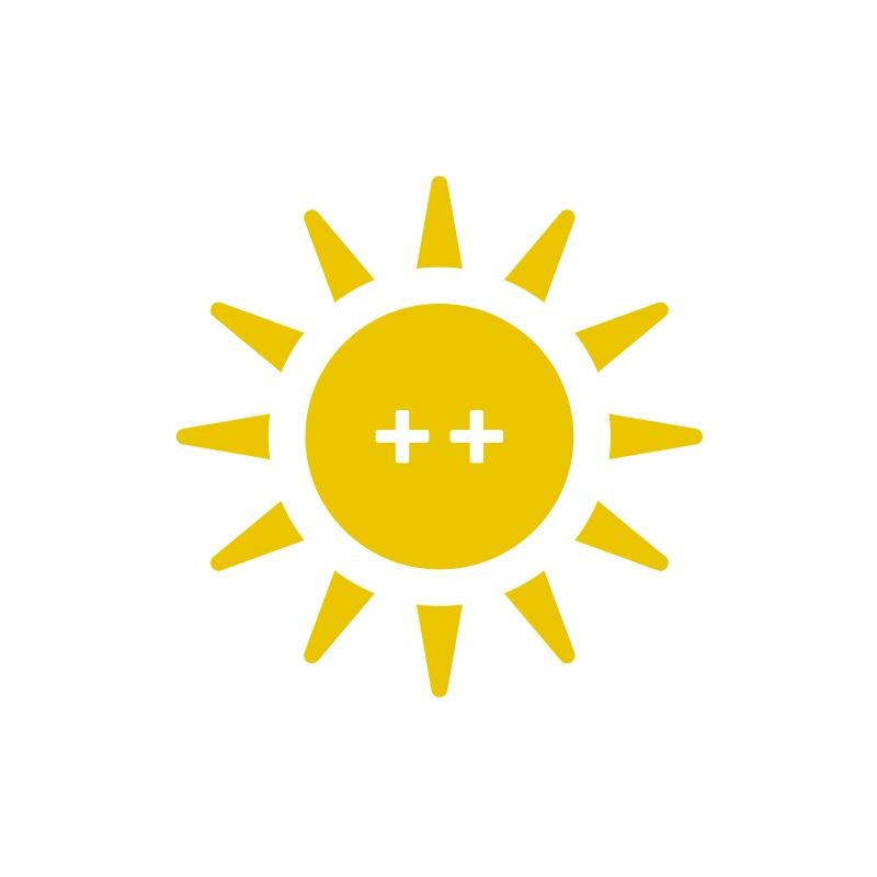 2++ zonnen