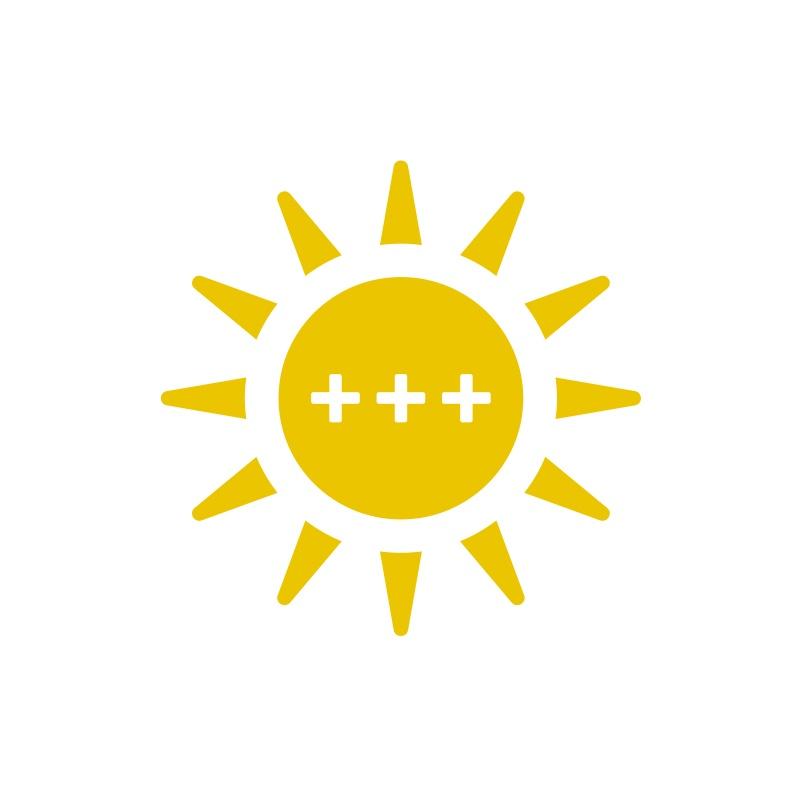 3+++ zonnen